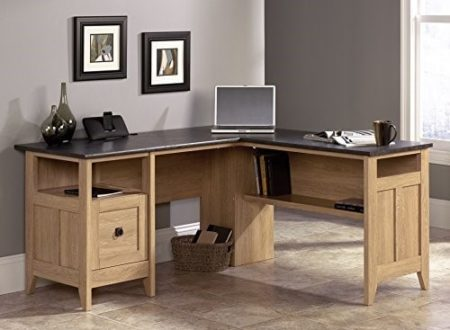 Weu0027ll Begin By Looking At The Sauder August Hill. This Is An L Shaped, Oak  Finished Desk That Has Enough Space For All Your Gaming Needs.