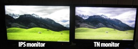 Display Comparision. gaming monitor IPS vs TN