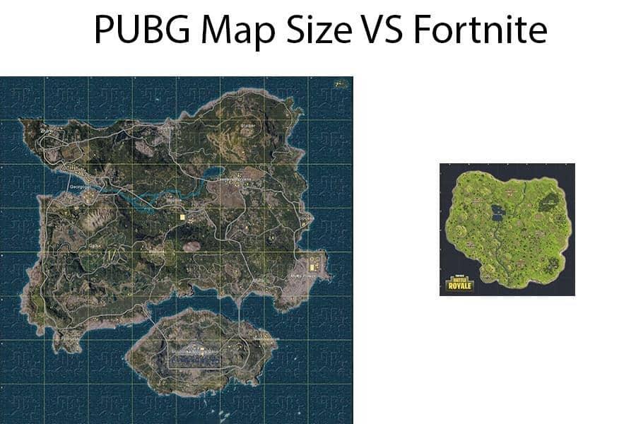 pubg map vs fortnite map