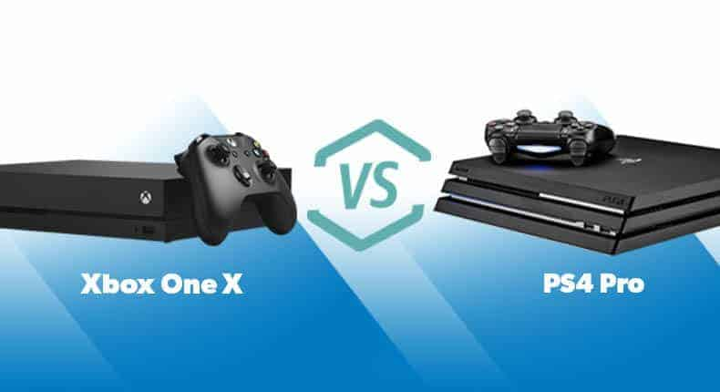 xbox one x vs playstation 4 pro