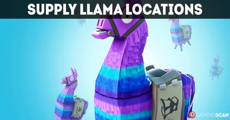 Fortnite Supply Llama Locations Map March 2018 Update