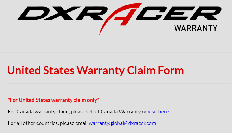 dxracer warranty
