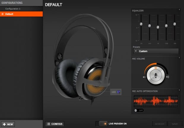 1d60ee7441f Like most SteelSeries peripherals, the Siberia 350 is compatible with the  Engine 3 software. From the software, you can choose from a selection of  audio ...