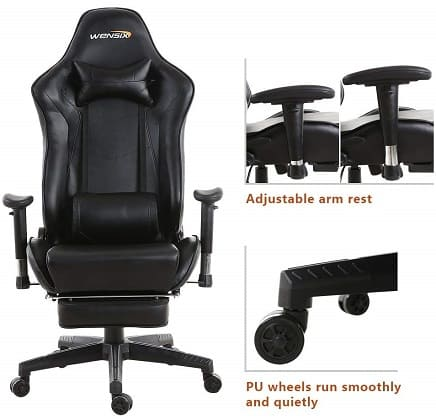 wensix gaming chair review 2019
