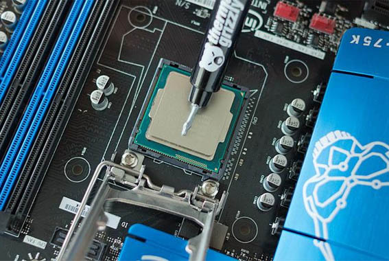 Applying Thermal Paste To Cpu