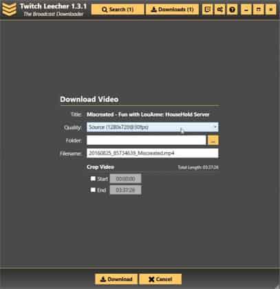 Save Twitch Videos