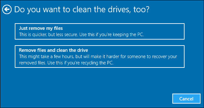 How To Wipe A Windows 10 Computer