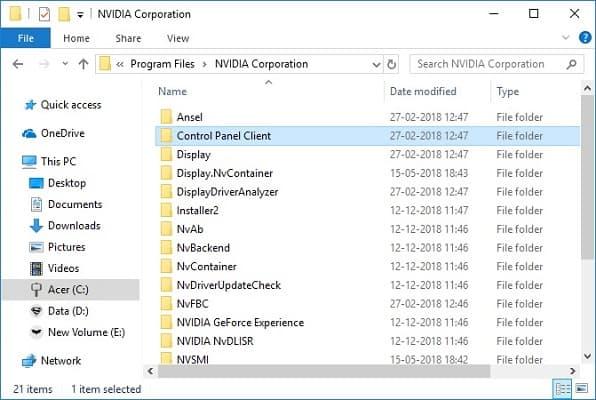 Nvidia Control Panel Client