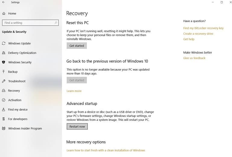 Recover Pc