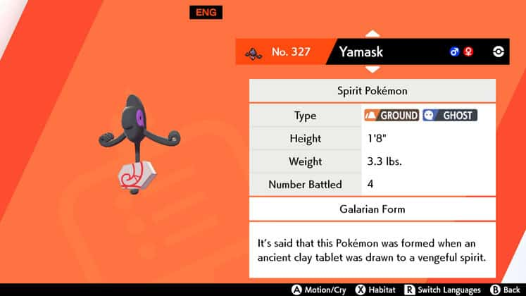 How to Catch Galarian Yamask Location