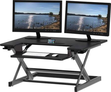 SHW Adjustable Sit to Standing Desk Converter