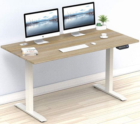 SHW Electric Adjustable Computer Desk Features