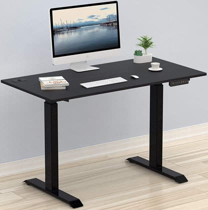 SHW Electric Adjustable Computer Desk