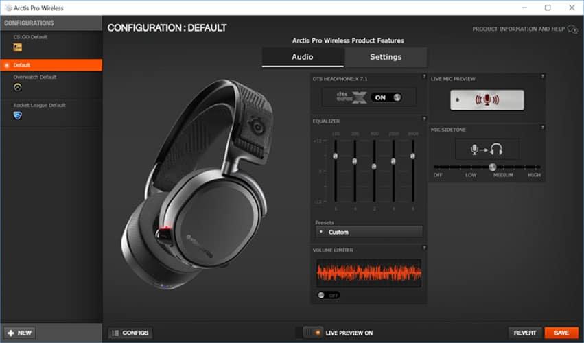 SteelSeries Arctis 7 Software