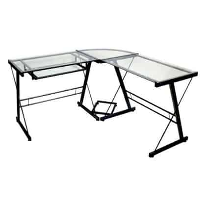 Walker Edison L Shaped Glass Desk Design