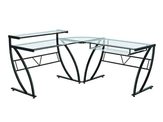Z Line Designs Feliz Glass L Desk Features