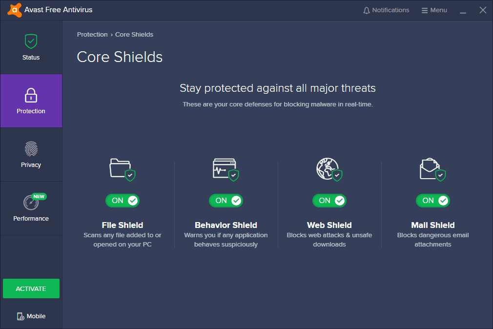 How To Disable Avast Antivirus Temporarily Core Shields