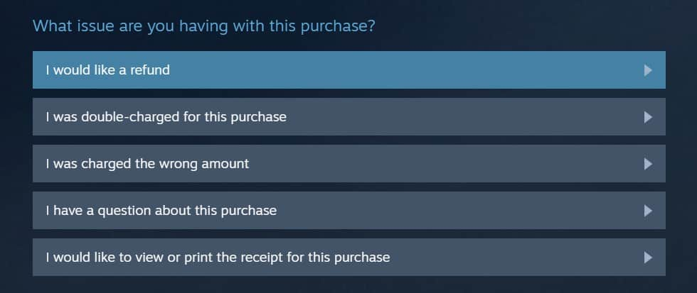 How To Refund A Game On Steam Issue