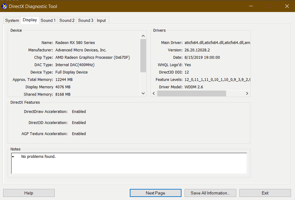 What Graphics Card Do I Have DXDiag Display