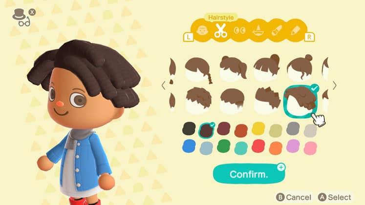 Animal Crossing Change Hair Style