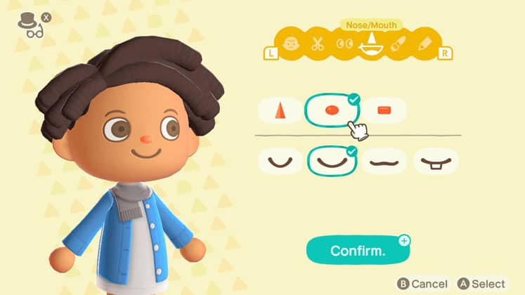 Animal Crossing Change Nose and Mouth