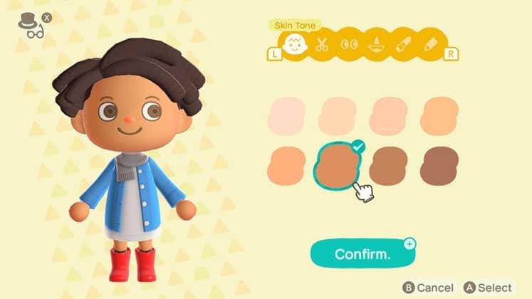 Animal Crossing Change Skin Tone