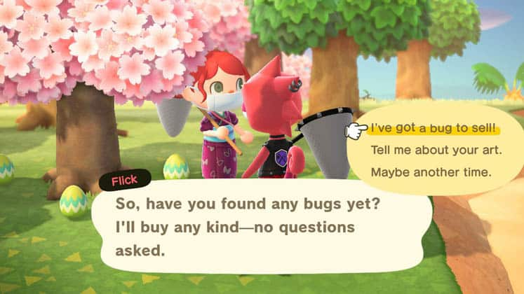 Animal Crossing How To Sell Bugs To Flick