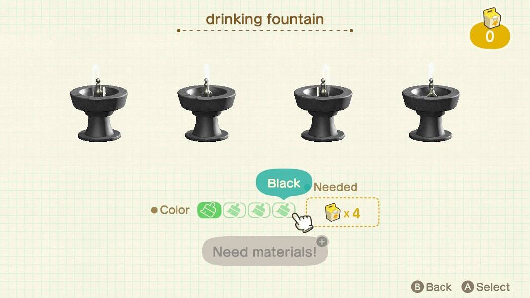 Animal Crossing New Horizons Customize Items