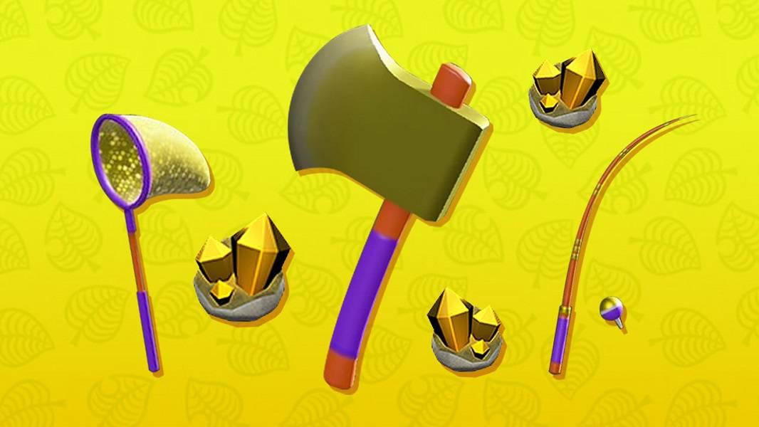 Animal Crossing New Horizons Golden Tools