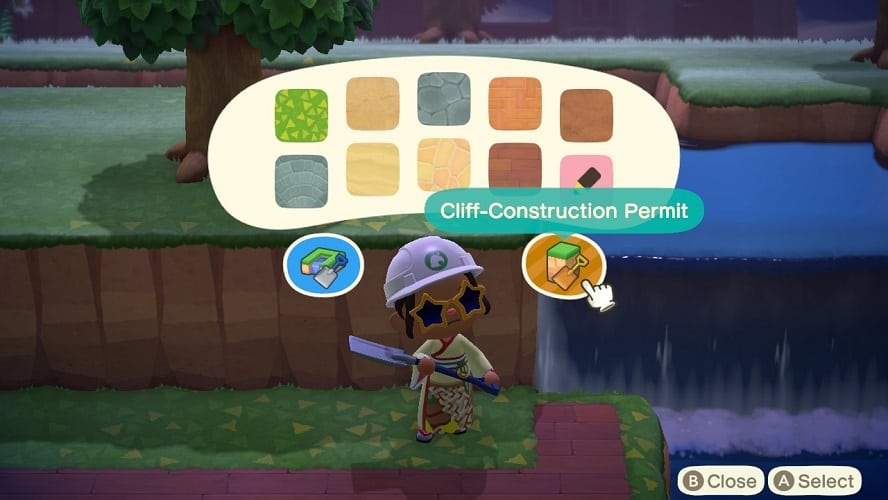 Animal Crossing New Horizons How To Build Cliffs and Waterfalls