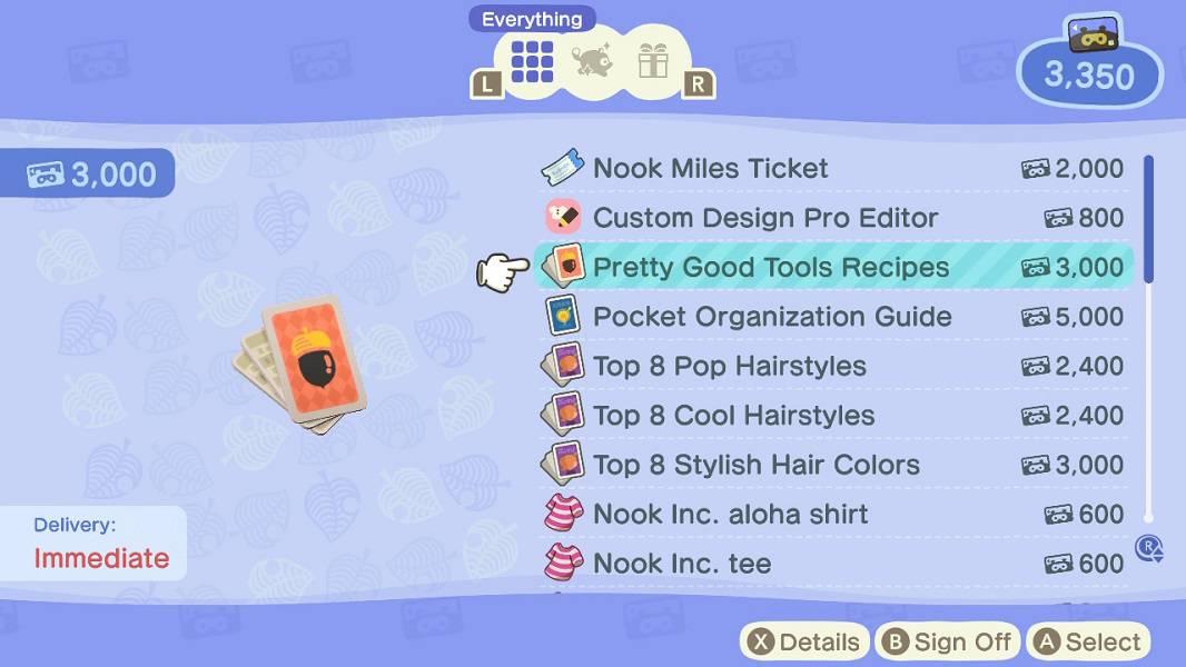 Animal Crossing New Horizons Pretty Good Tools