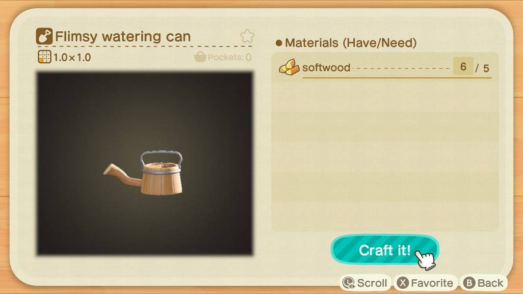 Animal Crossing New Horizons Watering Can