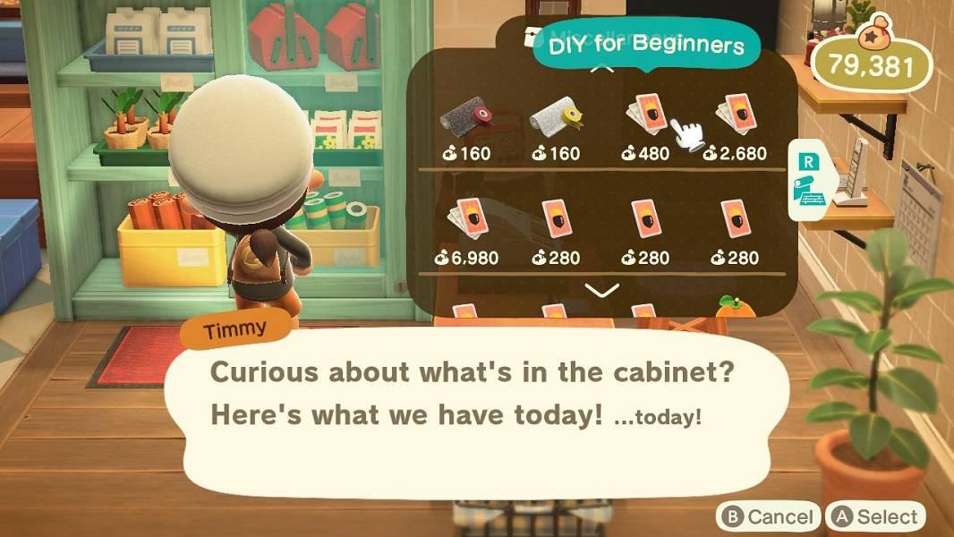 Animal Crossing New Horizons recipe books