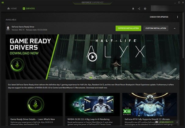 NVIDIA GeForce Experience Express Installation