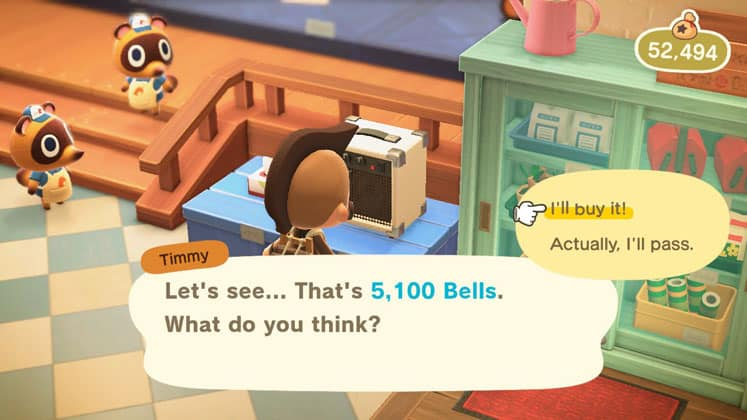 Animal Crossing Buy And Sell Items