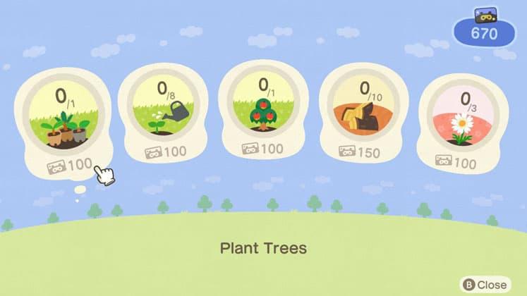Animal Crossing Complete Nook Miles+ Activities