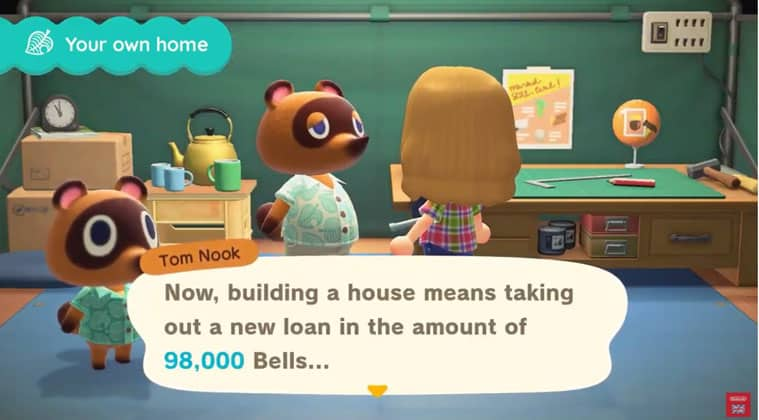 Animal Crossing New Horizons Guide Bigger House Upgrade