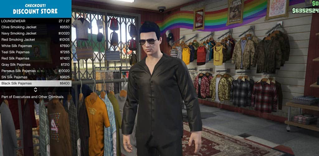 GTA Online buy clothes