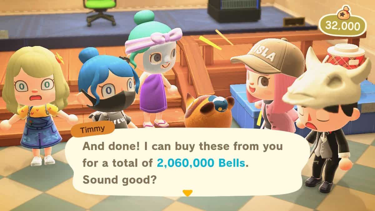 animal crossing new horizons earn bells quickly
