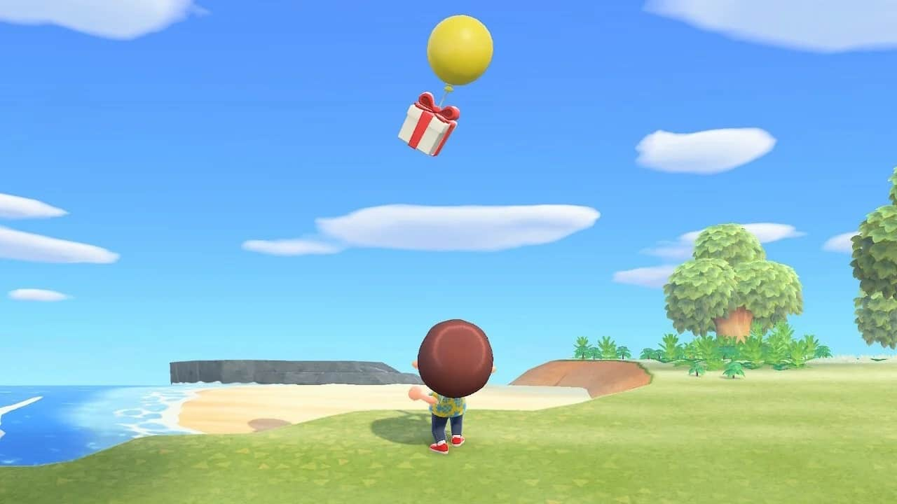 animal crossing new horizons floating presents