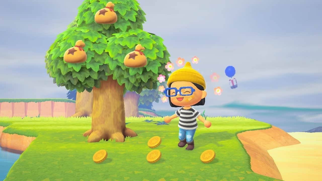 animal crossing new horizons shake trees bells