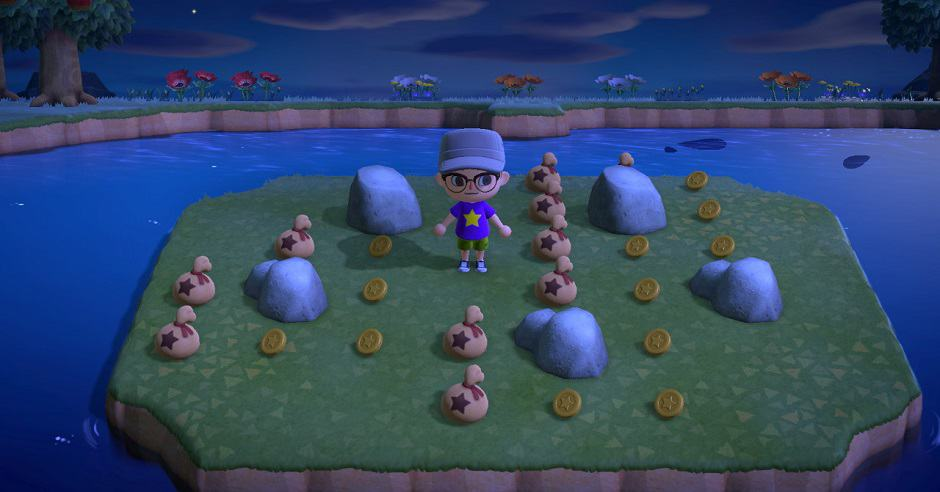 animal crossing new horizons strike money rocks