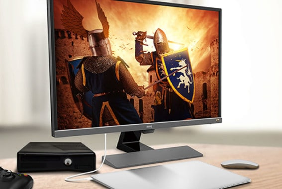 gaming monitor playing a game