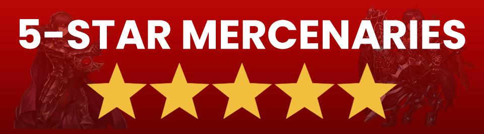Brave Nine best 5 star mercenaries
