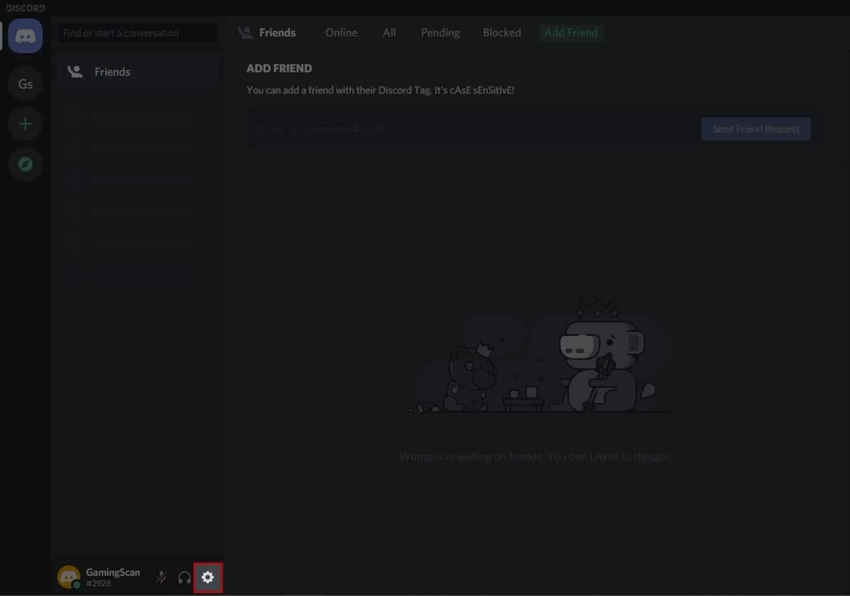 Discord Screen Share No Audio Open User Settings