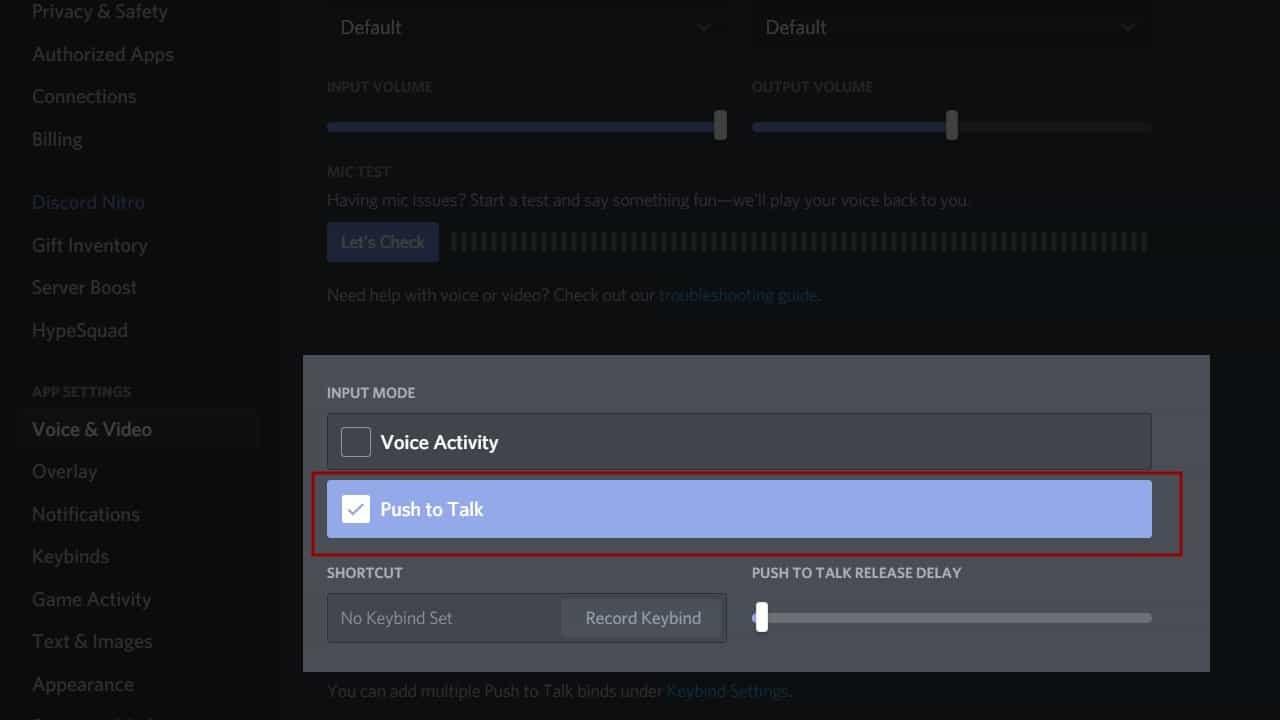 Discord Screen Share No Audio Push To Talk