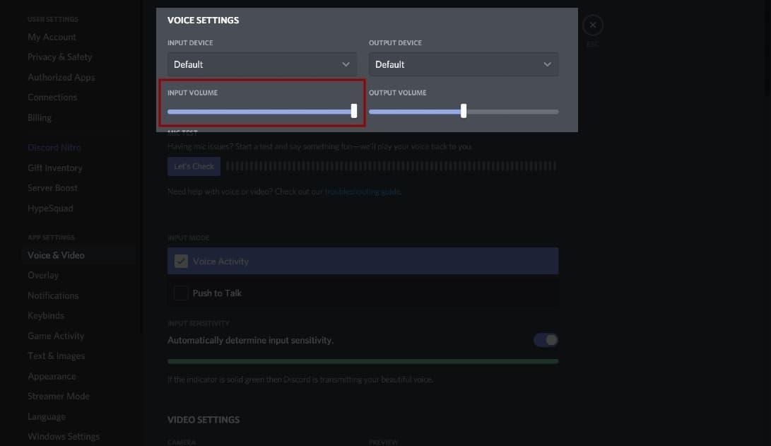 Discord Screen Share No Audio Voice Volume Input Slider