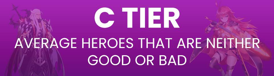 Epic Seven Tier List Tier C