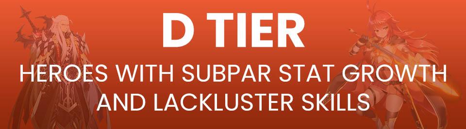 Epic Seven Tier List Tier D