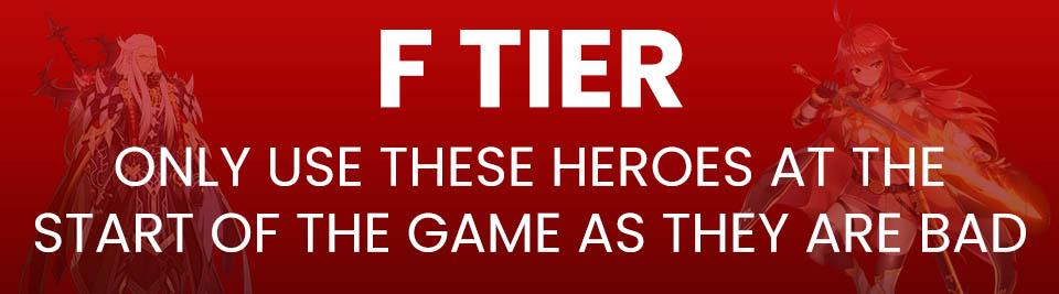 Epic Seven Tier List Tier F